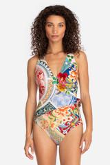 Boho Wrap One Piece Swimsuit