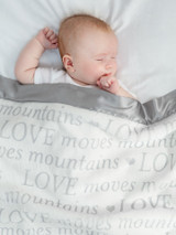 Luxe™  Love Moves Mountains Baby Blanket - Silver