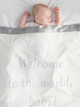 Luxe™ Welcome To The World Baby,  Blanket - Silver
