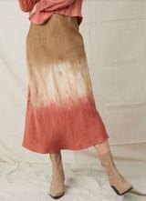 Bias Midi Skirt - Flax Henna