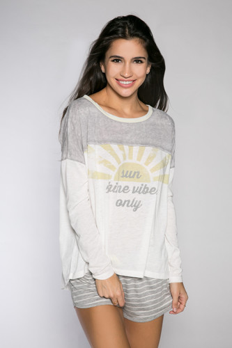 PJ Salvage Sunshine Days Long Sleeve Tee