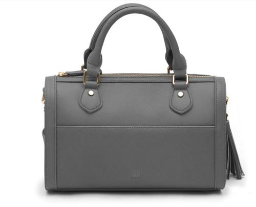 Marsi Bond Brooklyn  Vegan Leather Satchel Bag - Grey