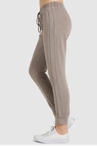 Bella Dahl Raw Edge Stripe Jogger (Eagle Rock)