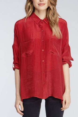 Velvet Heart Lee Garnet Button Down