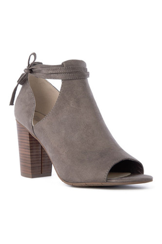 BC Footwear Set Me Free Ankle Boot in Grey