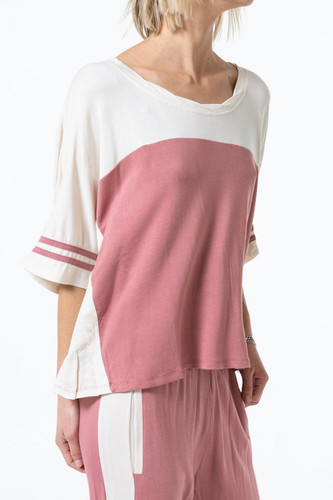 Baggy Team Tee in Mauve by The Laundry Room