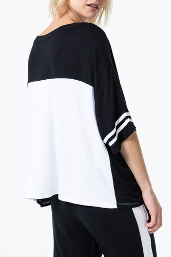 Baggy Team Tee in Black-White by The Laundry Room