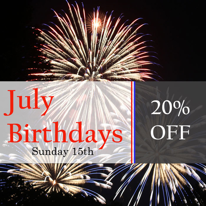 July Birthday Discount