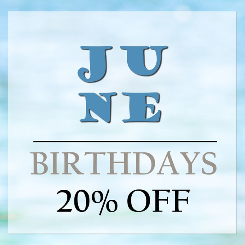 June Birthday Discount