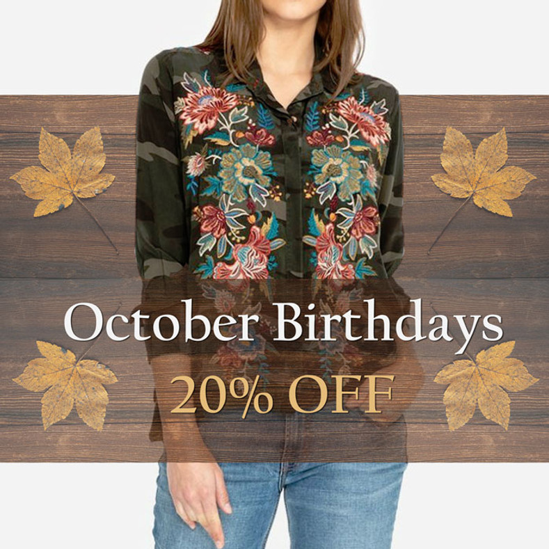 October Birthdays - 20% OFF