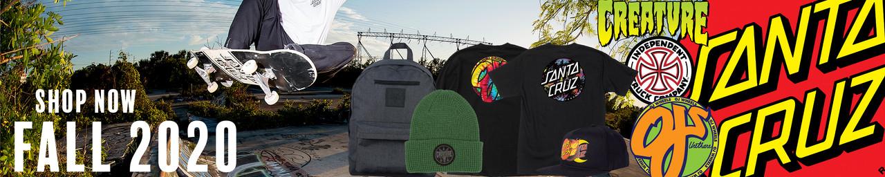 Santa Cruz, Independent, OJ Wheels, Creature Clothes - Fall 2020