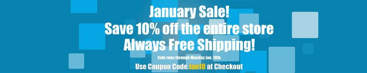 Save 10% with Code - Jan10