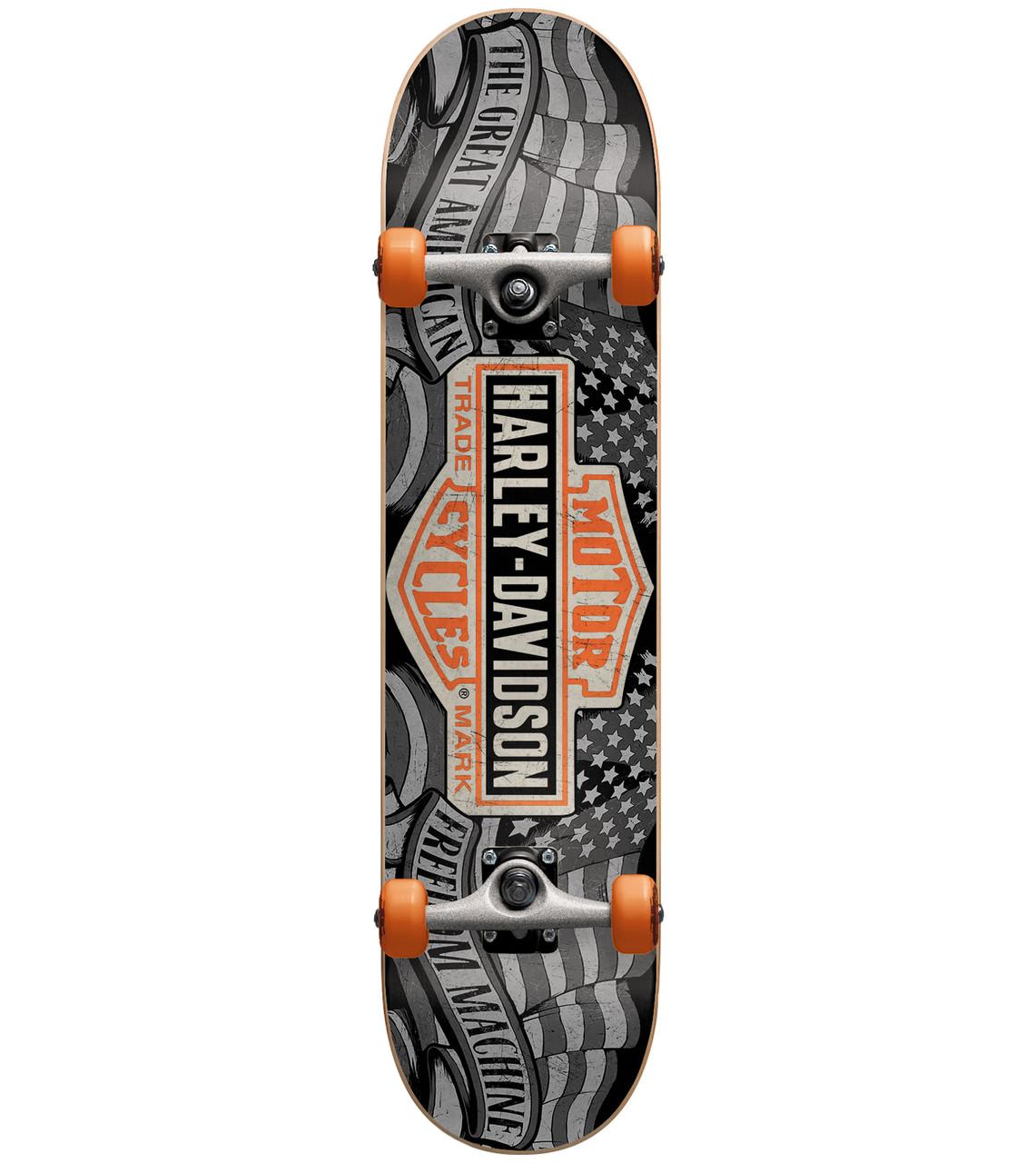 "DARKSTAR//HARLEY DAVIDSON FREEDOM Planche Skateboard 7.875/"" large Dark Star"