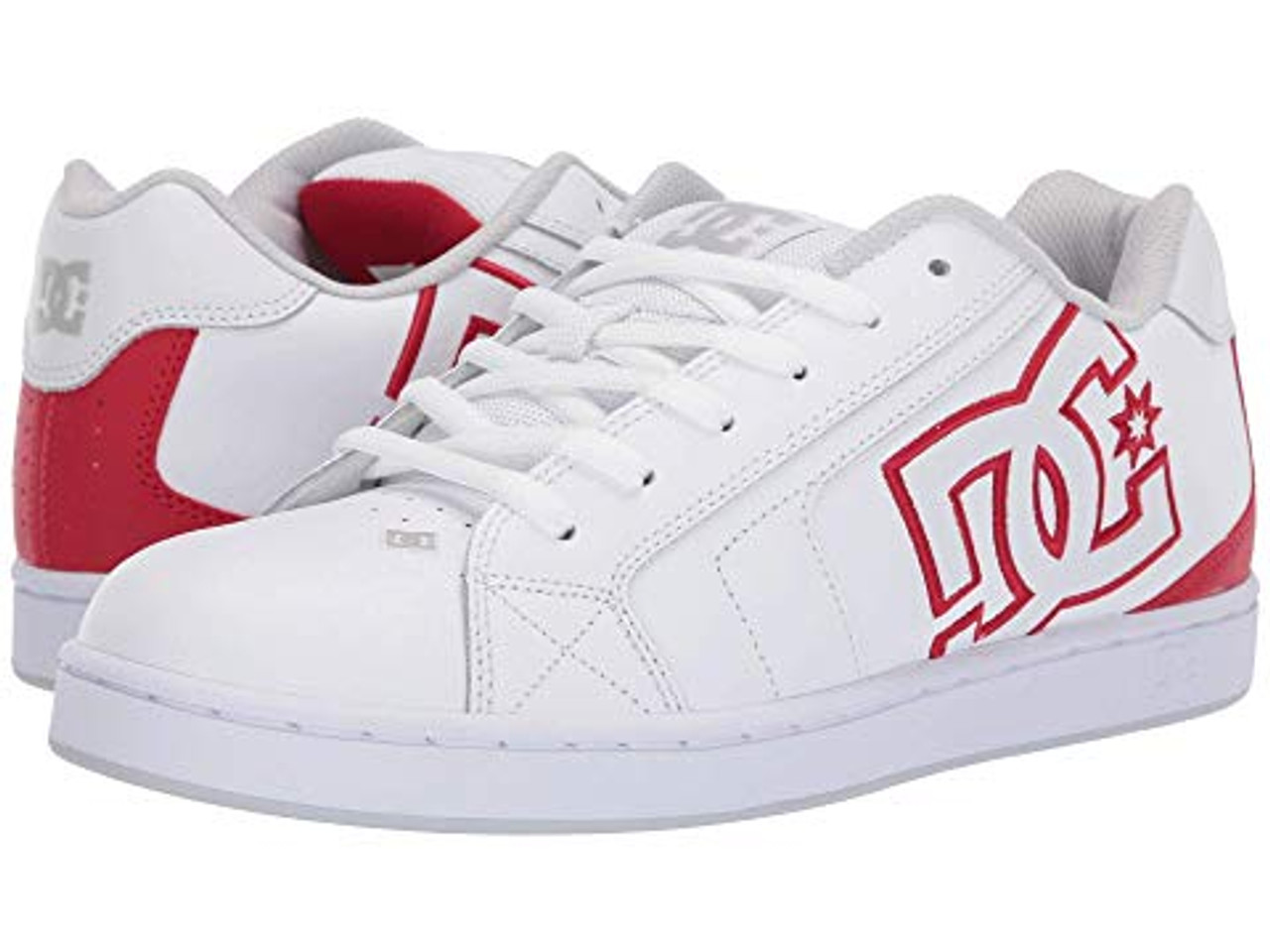 DC Shoes Net White/Athletic Red/White