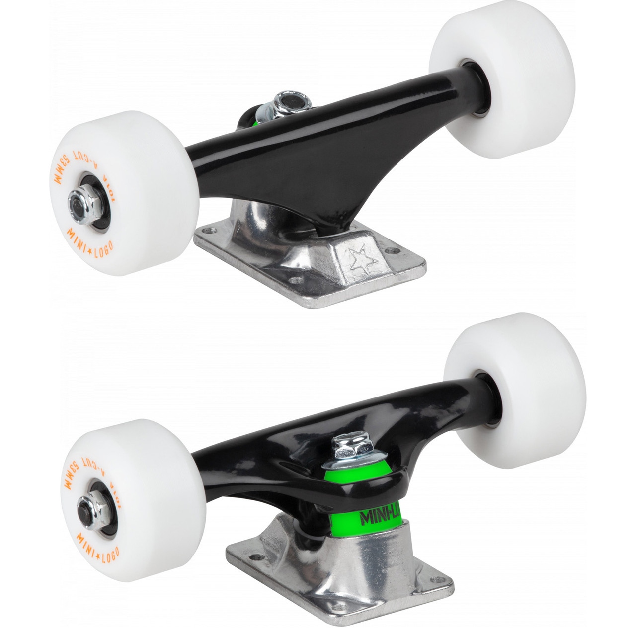 mini skateboard deck kit with black grip tape and wheel