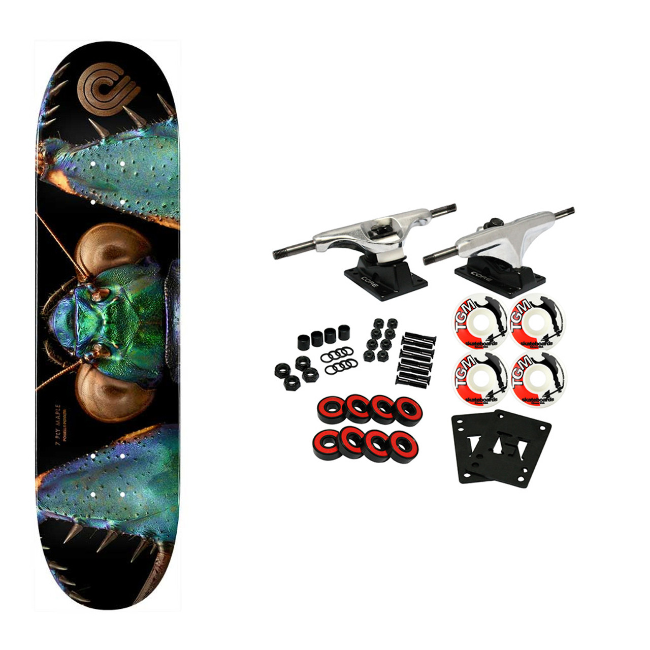 """Powell Peralta Skateboard ssembly Biss Bark Mantis 8.75/"""" x 32.95/"""" Complete"""