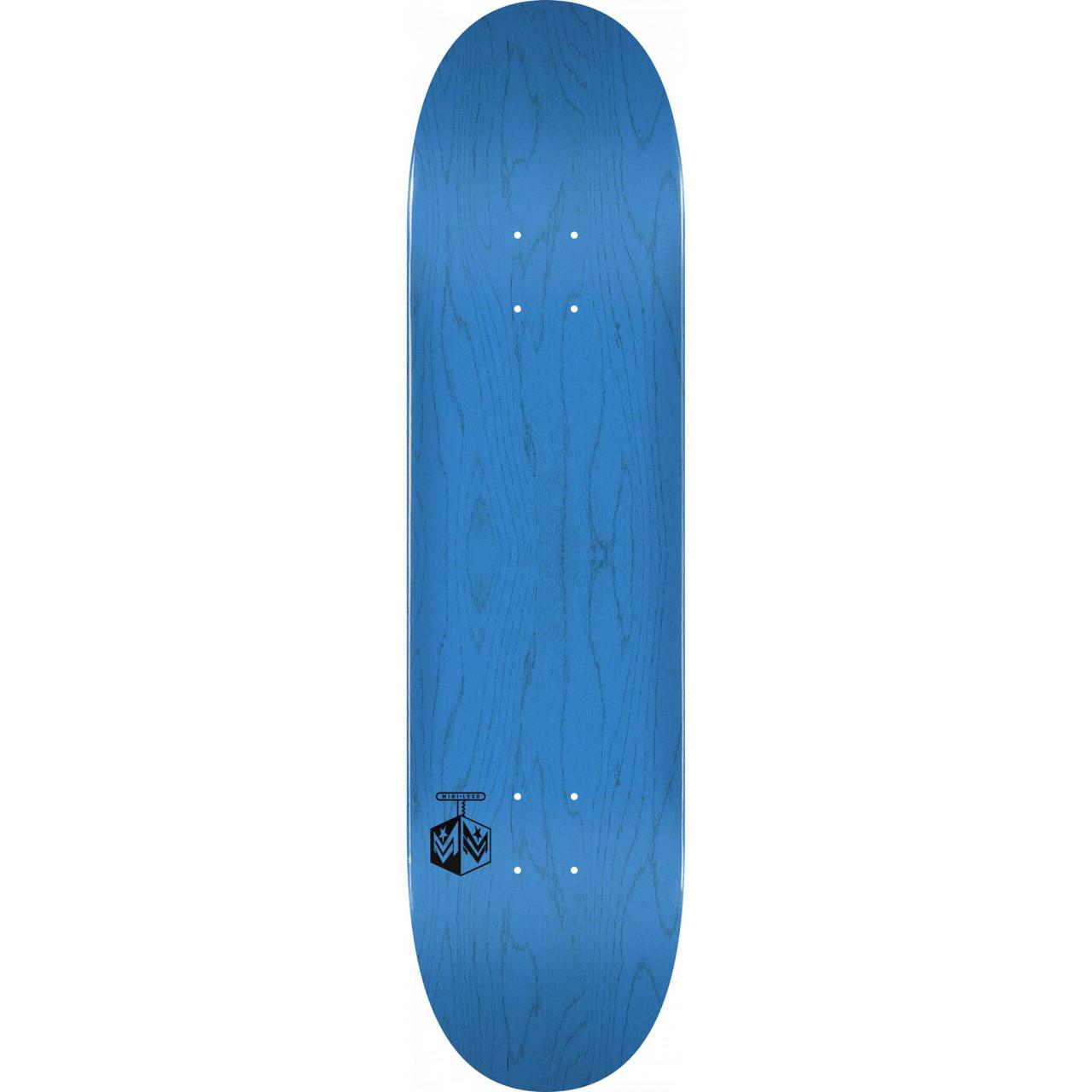 Mini-Logo Skateboard Deck K20 Chevron Detonator Blue 7.75 x 31.08 with Grip