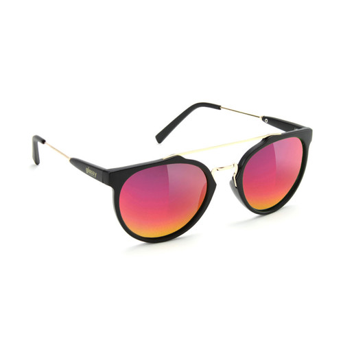 Glassy Sunhater Sunglasses CHUCK BLACK/RED MIRROR