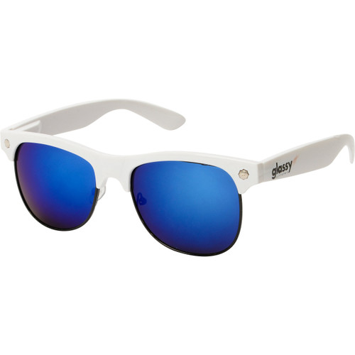 Glassy Sunhater Sunglasses Shredder White/Blue