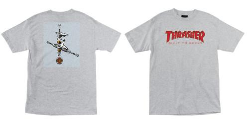 Independent Shirt Thrasher BTG Built to Grind Athletic Heather