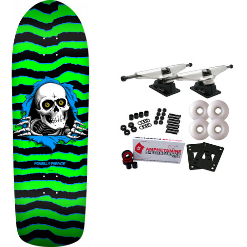 Powell Peralta Complete Old School Ripper Green/Black Re-Issue