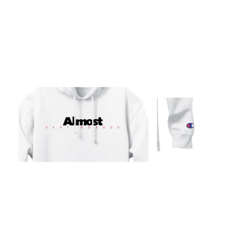 Almost Skateboards Hoody Hat Tip Champion White