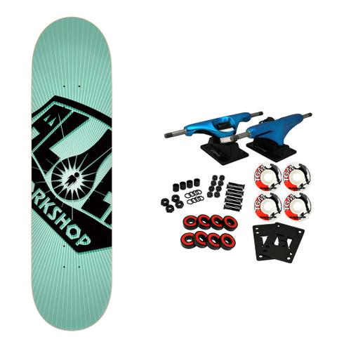 TGM Skateboards RKP Black Longboard Trucks Wheels Package 59mm x 43mm 83A 1788C Red