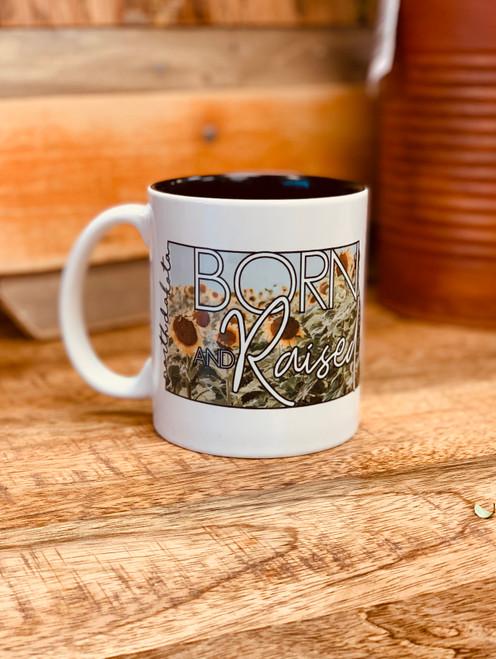 ND Born & Raised Coffee Cup, North Dakota Born and Raised Coffee Cup