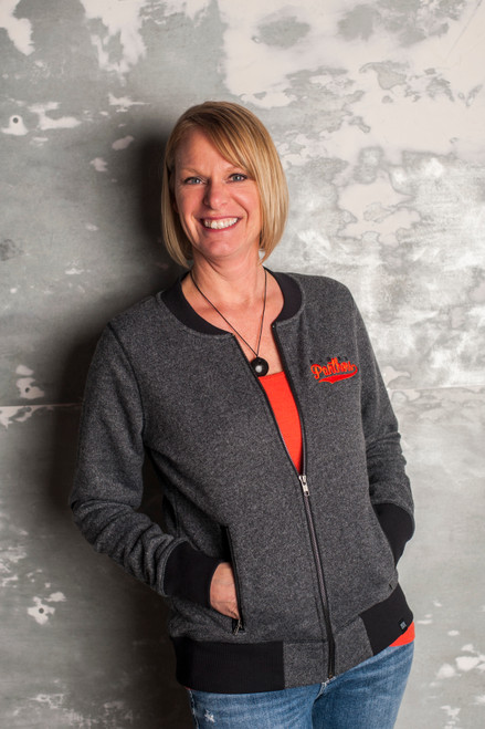 New Era Panthers Ladies French Terry Full-Zip