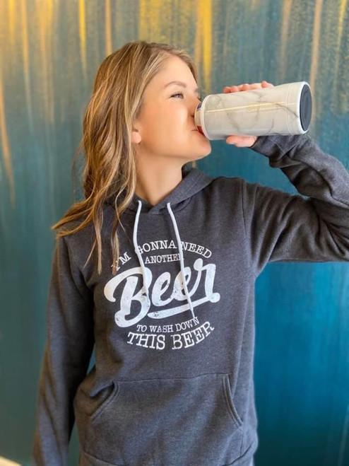 "Grey unisex ""Need another beer"" sweatshirt"