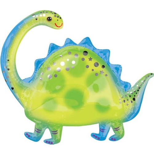 "This Dinosaur Balloon is the perfect addition to any party you may be throwing! Could be used for a cute POP at a baby shower, a fun decoration at a birthday party or an amazing photo shoot prop! The possibilities for this balloon are endless! Inflated Size: 22"" T x 25"" W. Located at Wild Minds Studio in Rugby, ND."