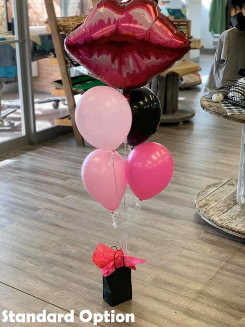 Lips Mylar Balloon Cluster