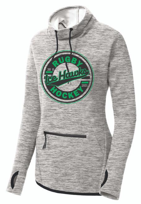 Ice Hawks Sport-Tek® Ladies Cowl Neck Pullover