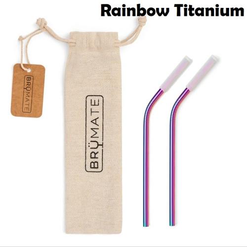 BruMate Wine Stainless Steel Straws