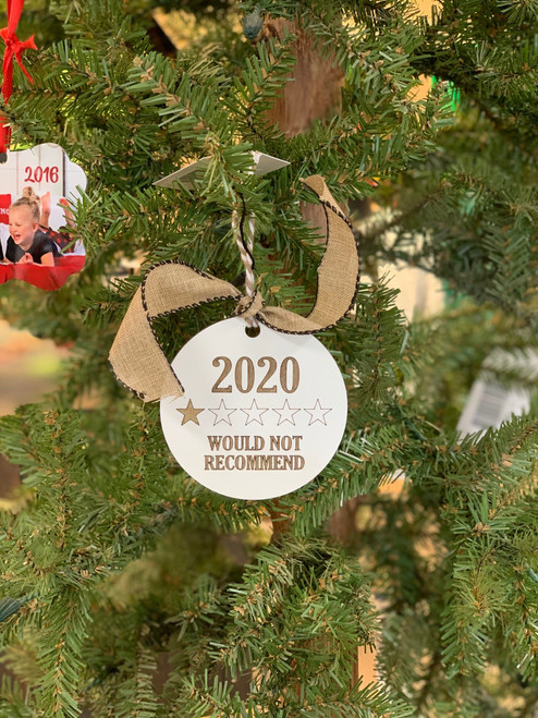 An ornament for your tree that sums up the year. Made and shipped from Rugby, ND.