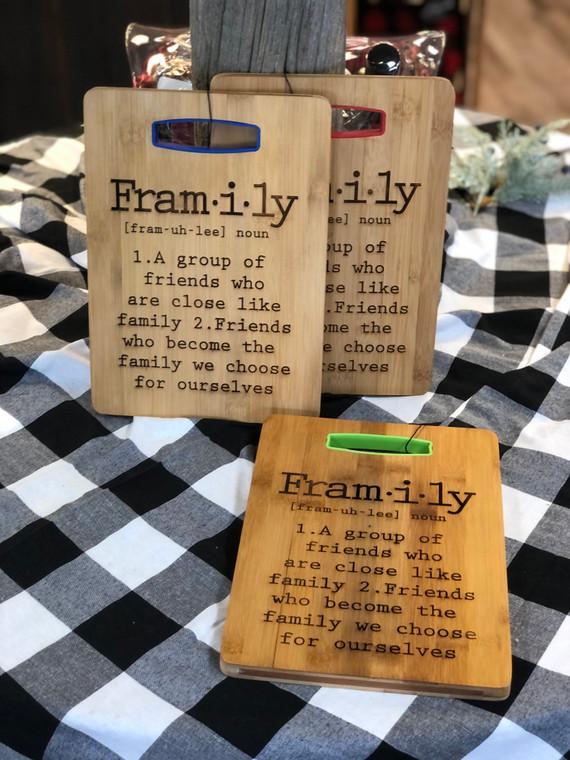 Framily Cutting Board