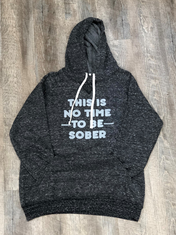 This lightweight hoodie is unisex and great for everyday wear. It is something you will not get super hot in, especially when it is no time to be sober!  7.2 oz., 66/34 polyester/ringspun cotton pre-shrunk French Terry