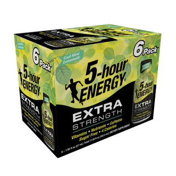 Cool Mint Lemonade flavored Extra Strength 5-hour ENERGY®  6-Pack