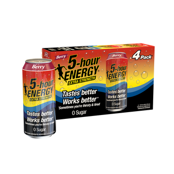Berry flavored Extra Strength 5-hour ENERGY® 16 oz Can 4-pack