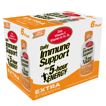 Ultra Orange Flavor Daily Immune Support Plus 5-hour ENERGY Extra Strength 6-Pack