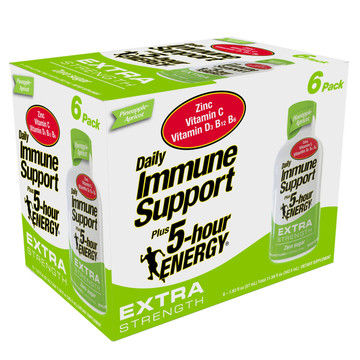 Pineapple Apricot Daily Immune Support Plus 5-hour ENERGY Extra Strength 6-Pack