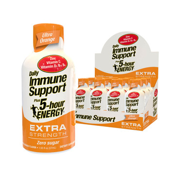 Ultra Orange Flavor Daily Immune Support Plus 5-hour ENERGY Extra Strength 12-Pack