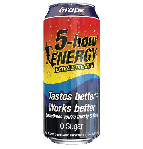 Grape flavored Extra Strength 5-hour ENERGY® 16 oz Can