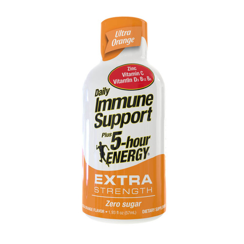 Ultra Orange Flavor Daily Immune Support Plus 5-hour ENERGY Extra Strength Shot