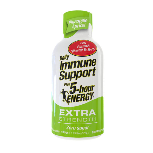 Pineapple Apricot Flavor Daily Immune Support Plus 5-hour ENERGY Extra Strength Shot
