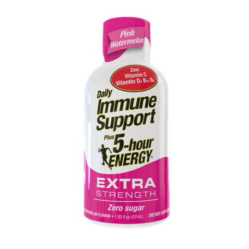 Pink Watermelon Flavor Daily Immune Support Plus 5-hour ENERGY Extra Strength Shot