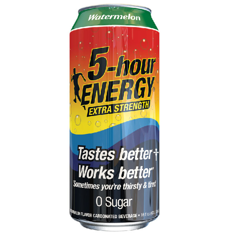 Watermelon flavored Extra Strength 5-hour ENERGY® Drink 16 oz Can