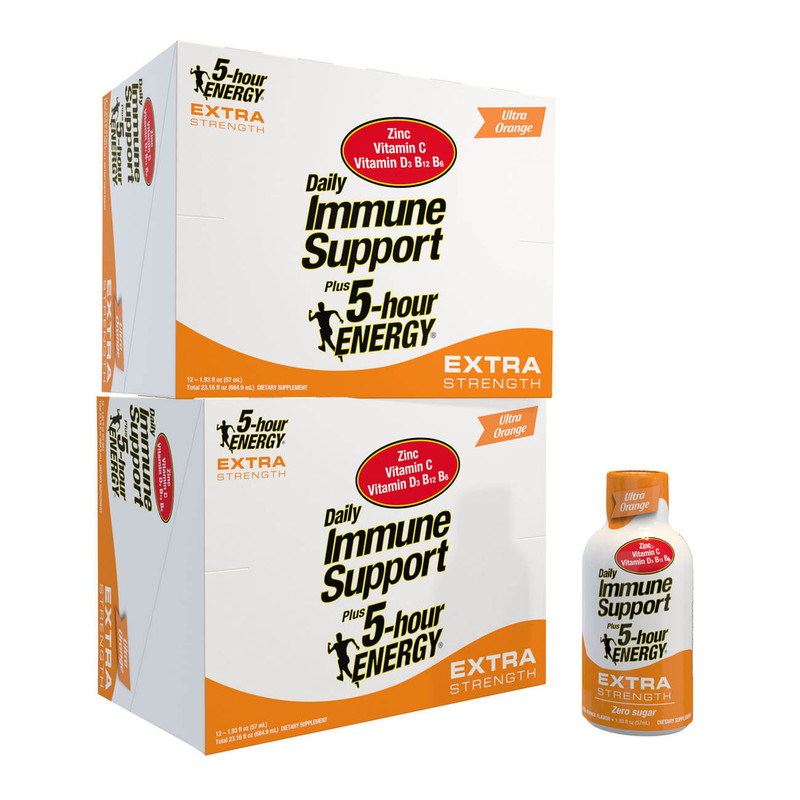 Ultra Orange Flavor Daily Immune Support Plus 5-hour ENERGY Extra Strength 24-Count