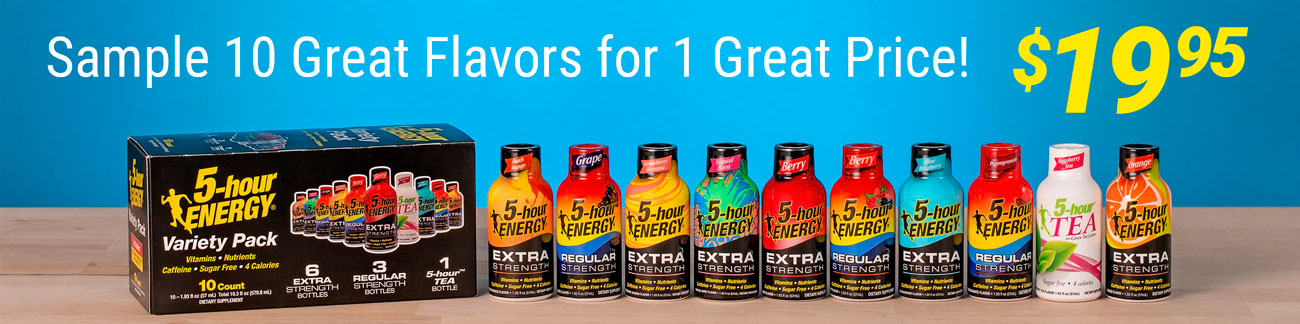 10 Great Flavors for 1 Great Price! $19.95 - Get yours today!