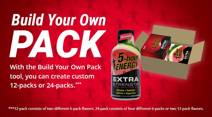 Build Your Own Pack with the Build Yoru OwnPack tool, you can create custom 12-packs or 24-packs